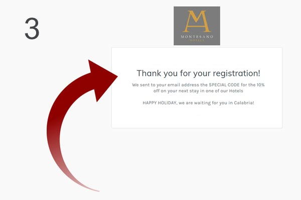 Now you are registered!